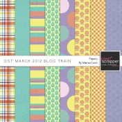 DST March 2012 Blog Train Papers Kit