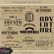 Oregonian Word Art Kit