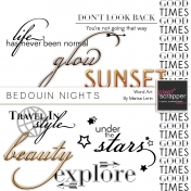 Bedouin Nights Word Art Kit