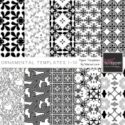 Ornamental Paper Templates 1-10 Kit