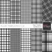 Plaid Paper Templates 1-10 Kit