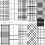 Plaid Paper Templates 21-30 Kit