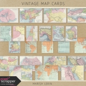 Vintage Map Cards Kit