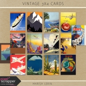 Vintage Travel Poster Cards Kit