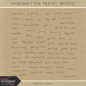 Handwritten Travel Words Kit