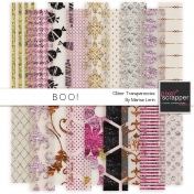 Boo! Glitter Transparencies Kit