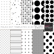 Polka Dot Paper Templates 31-40 Kit