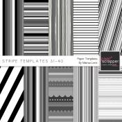 Stripe Paper Template Kit (31-40)