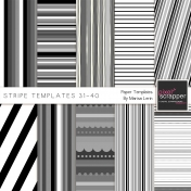 Stripe Paper Template Kit (31-40)