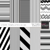 Stripe Paper Template Kit (81-90)