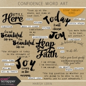 Confidence Word Art Kit