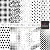 Polka Dot Paper Templates Kit (11-20)