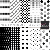 Polka Dot Paper Templates Kit (21-30)