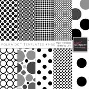 Polka Dot Paper Templates Kit (41-50)