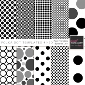 Polka Dot Paper Templates Kit (41-50)