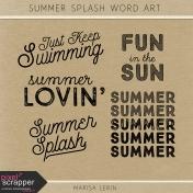 Summer Splash Word Art Kit