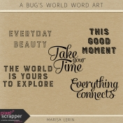 A Bug's World Word Art Kit