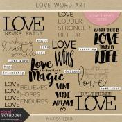 Love Word Art Kit
