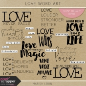 Love Word Art Kit