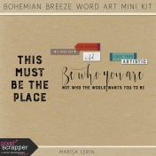 Bohemian Breeze Word Art Mini Kit