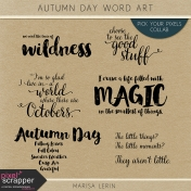 Autumn Day Word Art Kit