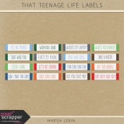 That Teenage Life Labels Kit