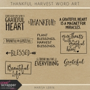Thankful Harvest Word Art Kit
