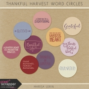 Thankful Harvest Word Circles Kit