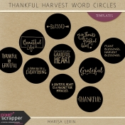 Thankful Harvest Word Circle Templates Kit