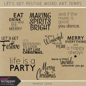 Let's Get Festive Word Art Templates Kit
