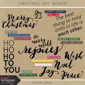 Christmas Day Word Art Kit