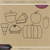 Thankful Harvest Illustration Templates Kit