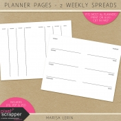 Planner Pages Kit- Weekly Spreads #1 & #2
