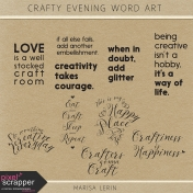 Crafty Evening Word Art Kit