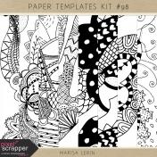 Paper Templates Kit #98- Tangles