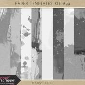 Paper Templates Kit #99- Paint Textures