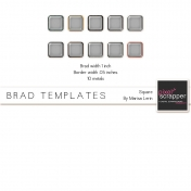 Brad Set #2 Large Square Kit