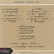 Unwind Word Art Kit