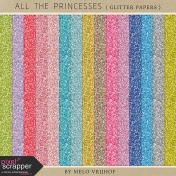 All The Princesses- Glitter Papers