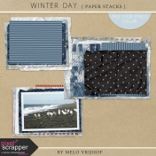Winter Day - Paper Stacks