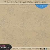 Winter Fun- Hand Drawn Snowflakes