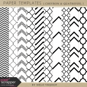 Paper Templates- Chevron & Quatrefoil