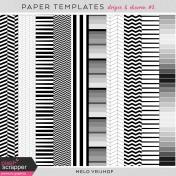 Paper Templates- Stripes & Chevron 2