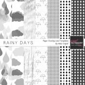 Rainy Days Paper Templates Kit