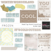 Frozen Wordart & Journal Cards Kit