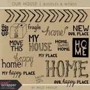 Our House Words and Doodles