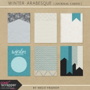 Winter Arabesque- Journal Cards