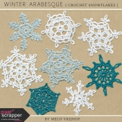 Winter Arabesque- Crochet Snowflakes