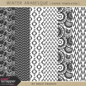 Winter Arabesque- Paper Templates