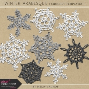 Winter Arabesque- Crochet Snowflake Templates